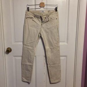 Off white denim skinny jeans